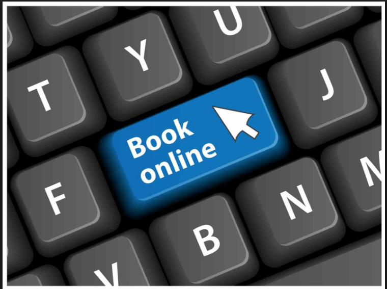 Stock image of Booking Online