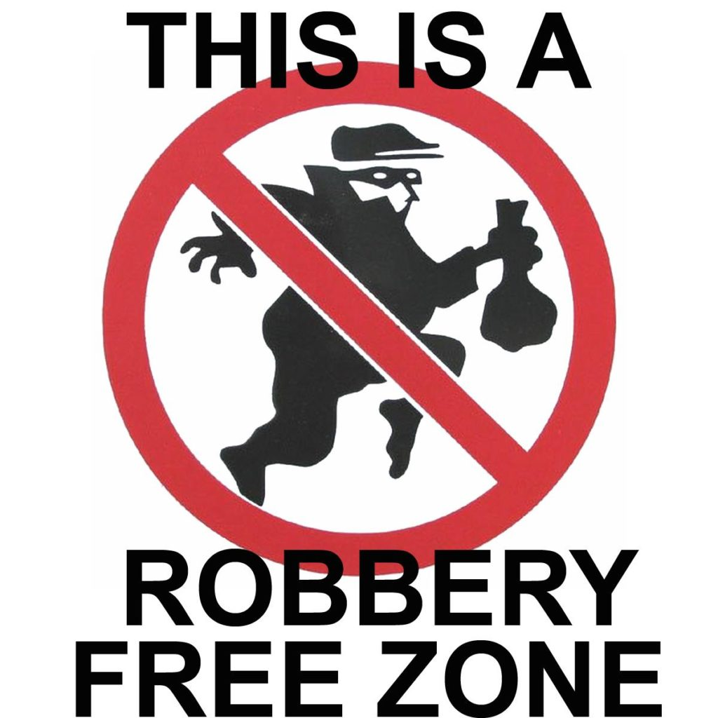 Robbery-Free Zone image