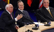 Washington sets aside divisions as US bids farewell to Bush